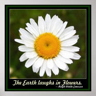 La tierra ríe en poster de las flores