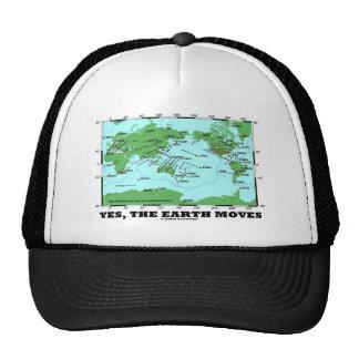 La tierra se mueve sí los terremotos de la tectón gorros