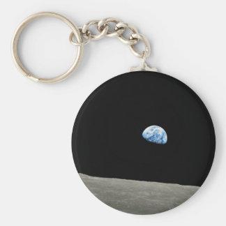 La tierra sube de la luna llavero