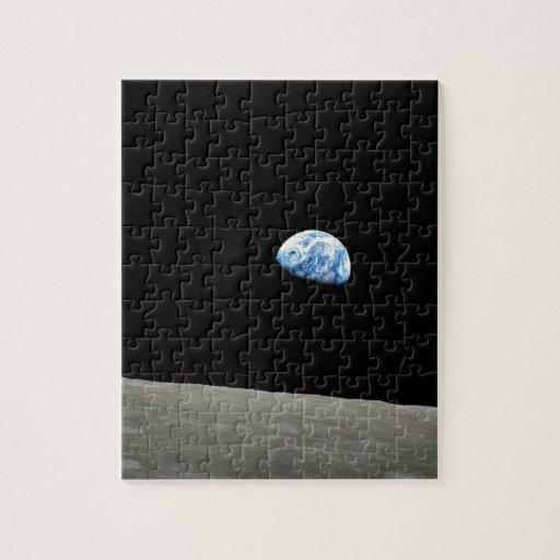 La tierra sube de la luna puzzle