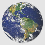 La tierra, Suramérica Pegatina Redonda