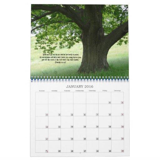 La tierra verde de dios+Citas de la Calendario