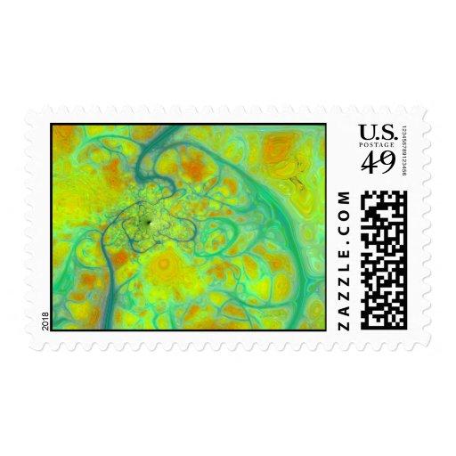 La tierra verde timbres postales