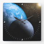La tierra y la luna reloj