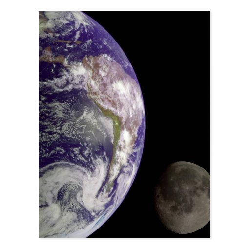 La tierra y la luna postales