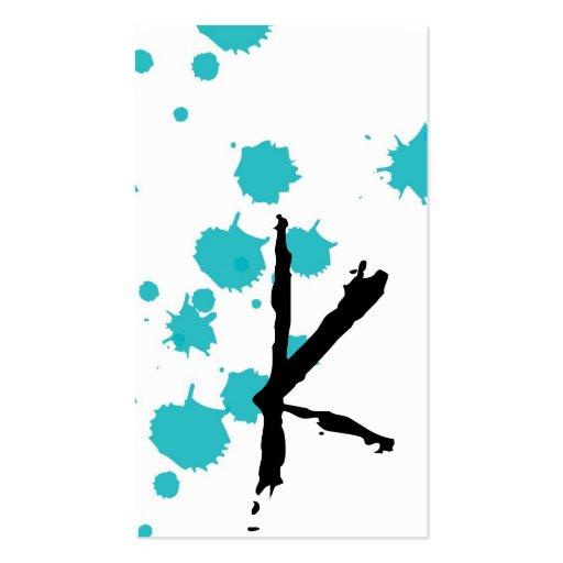 La tinta azul Splot de la aguamarina compone la Tarjetas De Visita