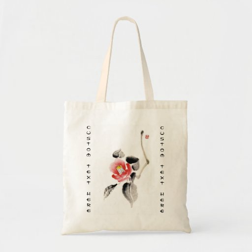 La tinta china oriental clásica del sumi-e florece bolsa de mano