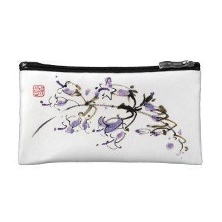 La tinta china oriental clásica del sumi-e florece