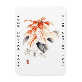 La tinta china oriental clásica del sumi-e florece iman de vinilo
