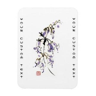 La tinta china oriental clásica del sumi-e florece iman