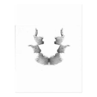 La tinta de la prueba de Rorschach borra caras de  Postales