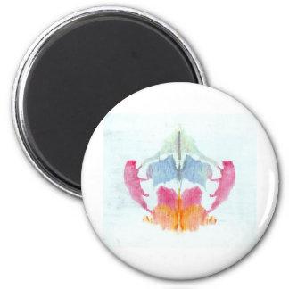 La tinta de la prueba de Rorschach borra el animal Imán Redondo 5 Cm
