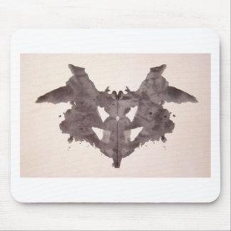 La tinta de la prueba de Rorschach borra el palo Alfombrillas De Ratón