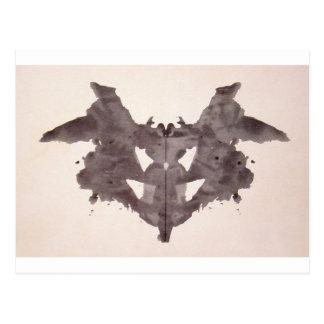 La tinta de la prueba de Rorschach borra el palo d Postal