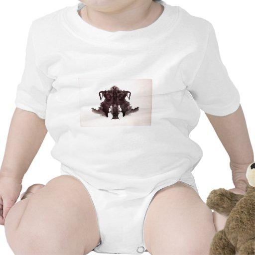 La tinta de la prueba de Rorschach borra la piel Trajes De Bebé