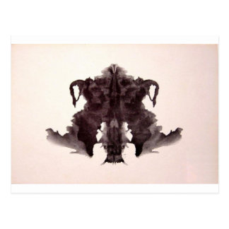 La tinta de la prueba de Rorschach borra la piel Tarjetas Postales
