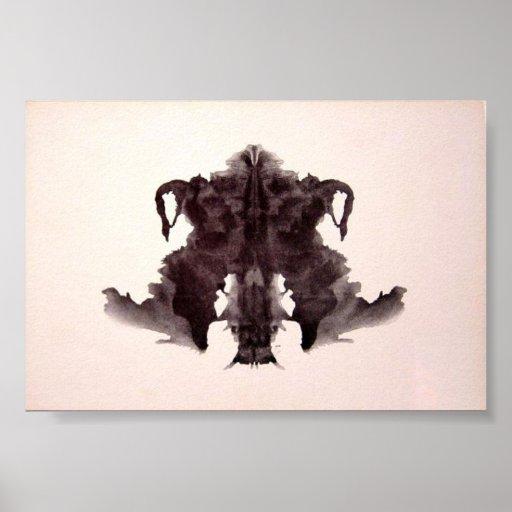 La tinta de la prueba de Rorschach borra la placa  Impresiones
