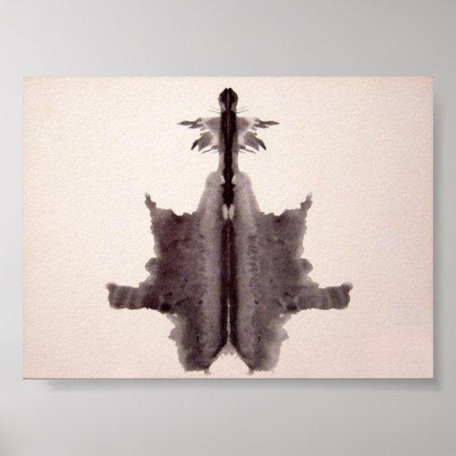 La tinta de la prueba de Rorschach borra la placa  Poster