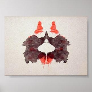 La tinta de la prueba de Rorschach borra la placa  Póster