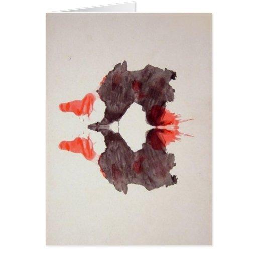 La tinta de la prueba de Rorschach borra la placa  Felicitaciones