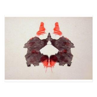 La tinta de la prueba de Rorschach borra la placa Tarjeta Postal