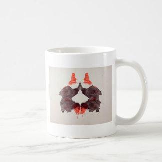 La tinta de la prueba de Rorschach borra la placa  Tazas De Café