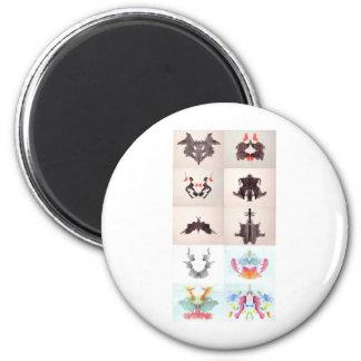 La tinta de la prueba de Rorschach borra las 10 Imán Redondo 5 Cm