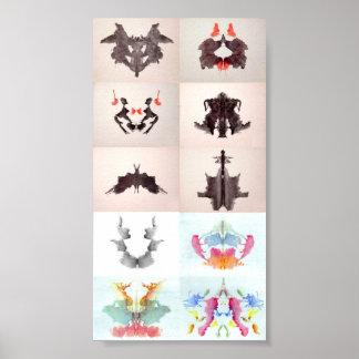 La tinta de la prueba de Rorschach borra las 10 pl Poster