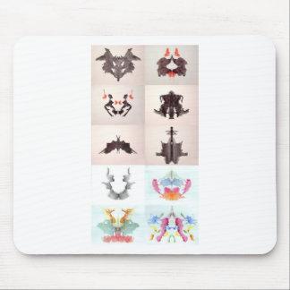 La tinta de la prueba de Rorschach borra las 10 pl Alfombrillas De Ratones