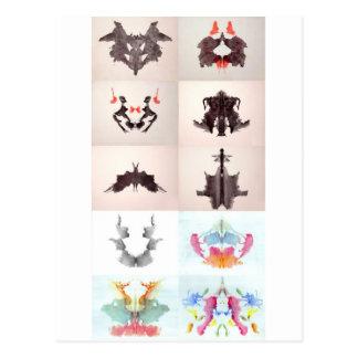 La tinta de la prueba de Rorschach borra las 10 pl Tarjetas Postales