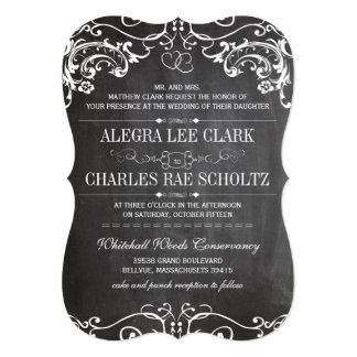 La tipografía cortada con tintas pizarra del invitación 12,7 x 17,8 cm