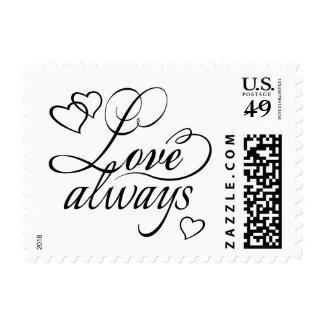 La tipografía el | de los corazones del amor ELIGE Estampilla