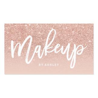 La tipografía elegante del artista de maquillaje tarjetas de visita