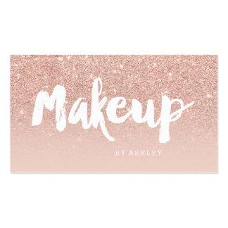 La tipografía moderna del artista de maquillaje se tarjetas de visita