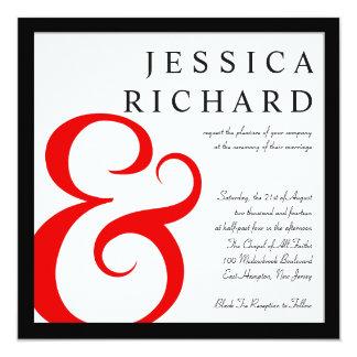 """La tipografía moderna del boda elegante invita invitación 5.25"""" x 5.25"""""""