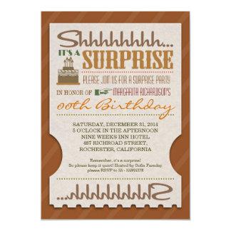 """la tipografía única de la fiesta de cumpleaños de invitación 5"""" x 7"""""""