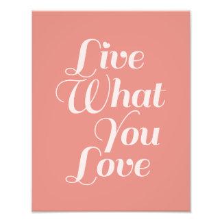La tipografía viva del amor cita salmones del rega impresión fotográfica