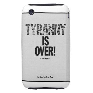 La tiranía ha terminado si usted la quiere funda though para iPhone 3