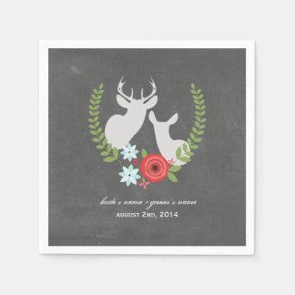 La tiza inspiró servilletas del boda de los servilletas de papel