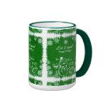 La tiza verde y blanca Muñeco de nieve-Lo dejó par Tazas De Café