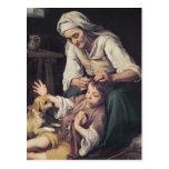 La Toilette Domestique', 1670-75 Post Cards