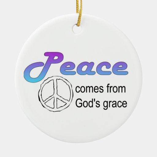 La tolerancia de dios cristiano del signo de la pa ornato