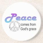 La tolerancia de dios cristiano del signo de la pa posavasos manualidades
