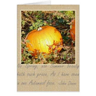 La tolerancia del otoño tarjetón