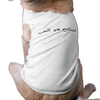 La tolerancia es amor playera sin mangas para perro
