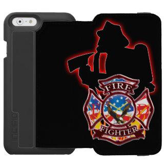 La toma del bombero en la cabeza del fuego funda cartera para iPhone 6 watson