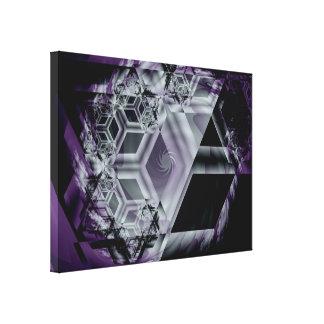 La tonalidad púrpura estiró la impresión de la lon lienzo envuelto para galerias