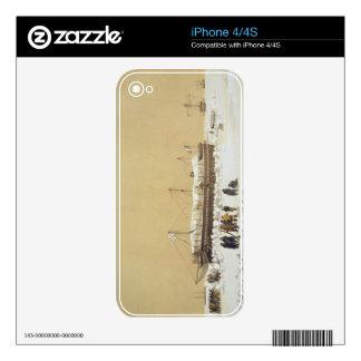 La Tonnante de la batería de flotación en el hielo iPhone 4S Calcomanías