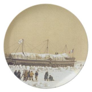 La Tonnante de la batería de flotación en el hielo Plato De Cena