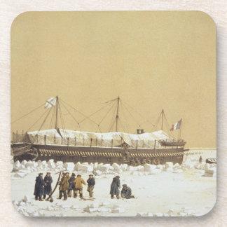 La Tonnante de la batería de flotación en el hielo Posavasos